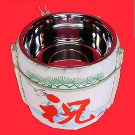 お手軽鏡開きセット2斗樽(容量12L)PP製[竹酌・木槌セット]|鏡開き 樽 ...