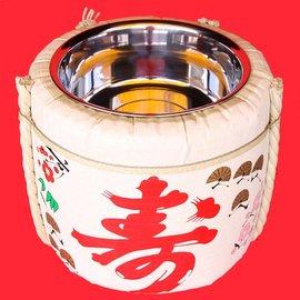 お手軽鏡開きセット4斗樽(容量18L)PP製[竹酌・木槌セット]|鏡開き 樽 ...